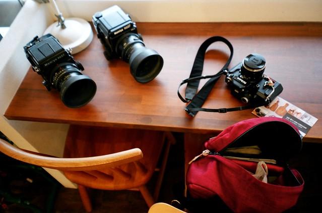 店主のカメラと