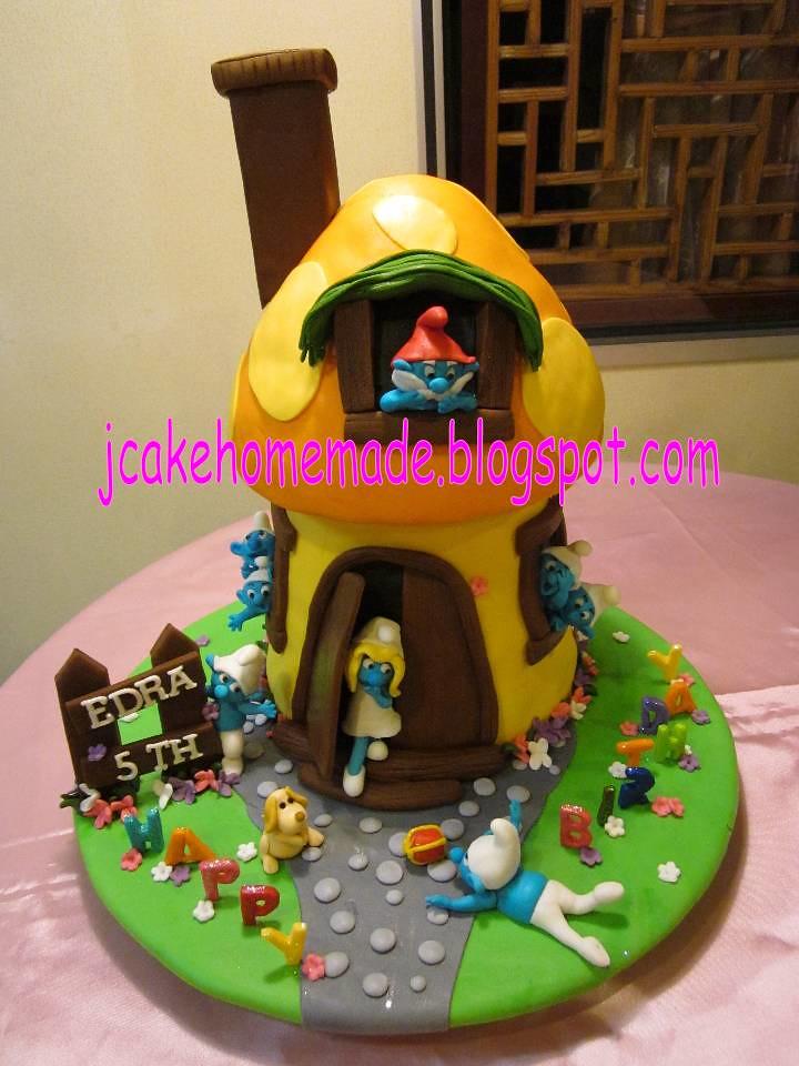 Smurfs Cottage Birthday Cake A Photo On Flickriver