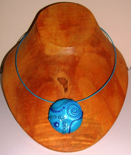 Big Blue Circle Pendant