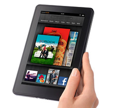 Kindle Fire in hand