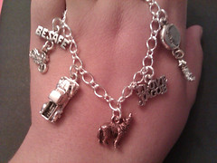 I love Jacob twilight charm bracelet