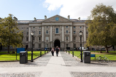 Students outside Trinity College