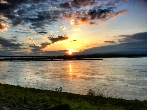 blue sunset night river mississippi purple tn memphis tennessee 901