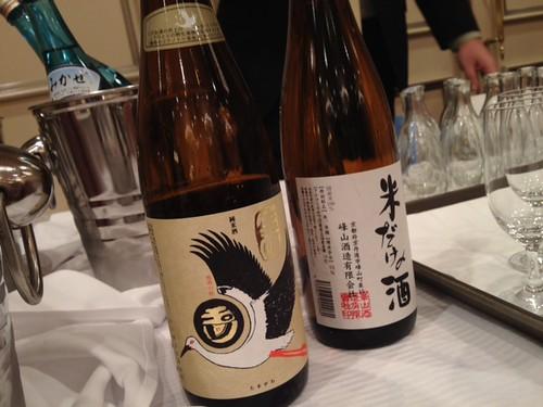 地酒はお刺身とカニに合うものをチョイスしていただきました。@京都・丹後PRフェアin東京