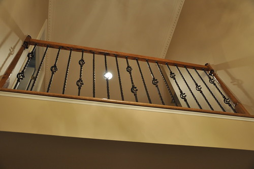 iron balusters in entrance of home