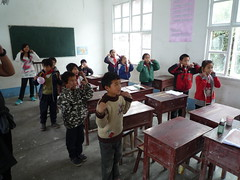 Simon Says with Village Students