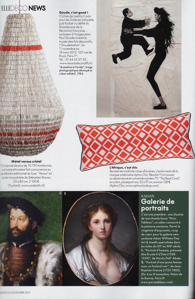 Elle Decoration France November 2011_AphroChic The Beat Pillow