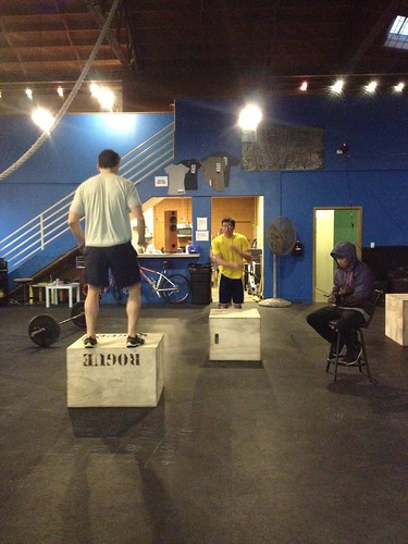 Post WOD box jumpers