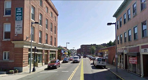 a commercial stretch of Dudley Street (via Google Earth)