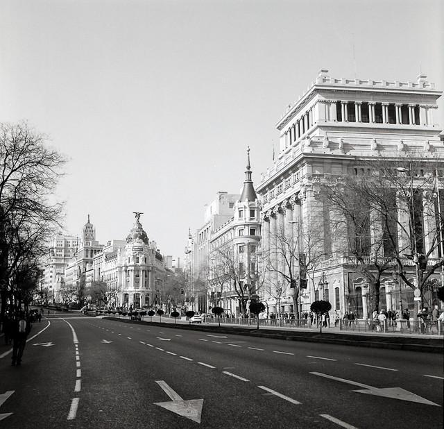 Madrid Calle de Alcala con Gran Via