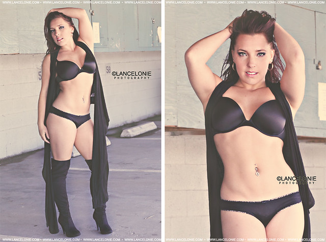 Lisa Kapchinske in black lingerie by lancelonie photography