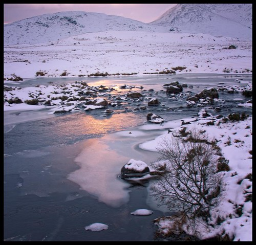 sunset scotland glencoe