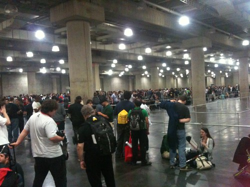 I hate to say it, but Javitz should refund everyone corralled in this cement holding area waiting for jay and silent bob