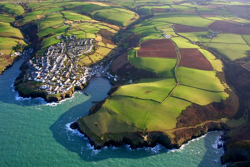 Port Isaac from above