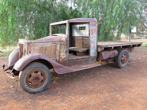 old Mail run truck in Meekatharra