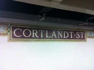 Cortlandt Station, closest underground station to #occupywallstreet