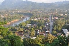 Vista d'una part de Luang Prabang des del Phousi Hill