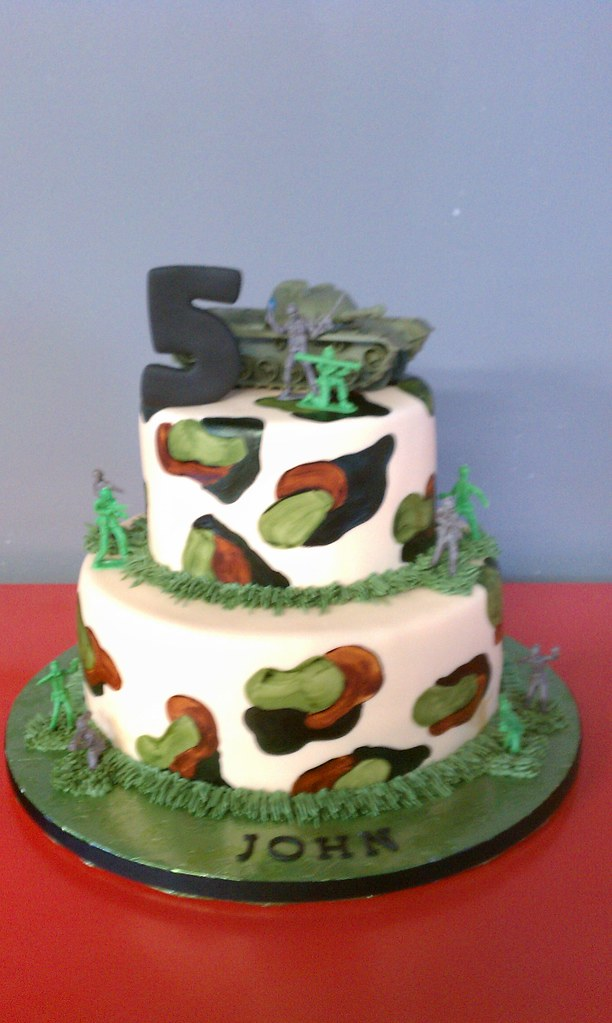 Army Camo Theme Birthday Cake A Photo On Flickriver