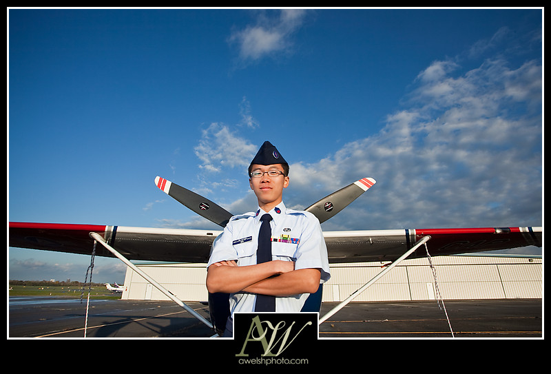 Terry Pittsford Senior Portrait Guy Rochester NY Photographer Unique piano airplane CAP civil air patrol