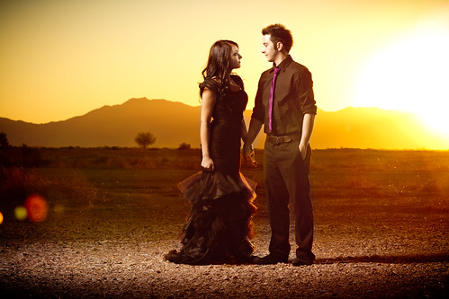 sunset arizona photo engagement chandler strobist