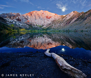 Moonset at Convict Lake