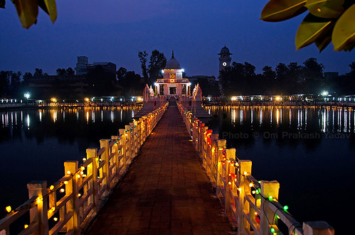 Ranipokhari with lights
