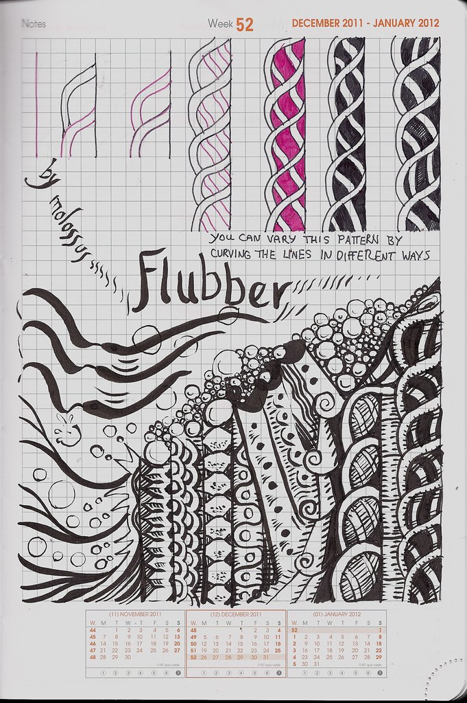 Flubber-tangle pattern