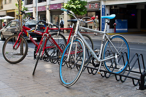 Nuevo rack para bicis en Stgo. Centro