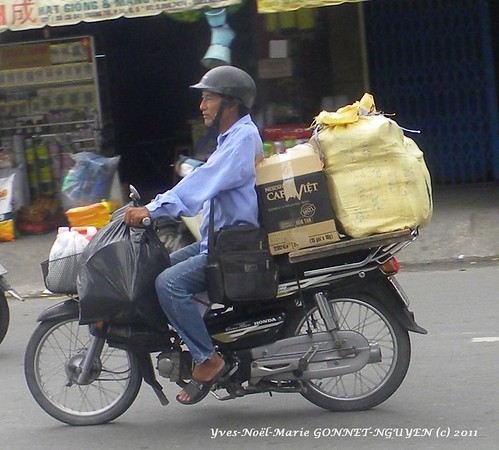 Invraisemblable Trafic de Mobylette Vietnam! Unlikely Moped Traffic Vietnam! Ho Chi Minh Ville / Ho Chi Minh City / Vietnam / Carnet De Voyage Vietnam / Vietnam Travel Book / Vietnam Journey Diary