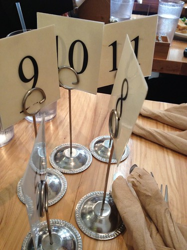 Table Numbers at Plant