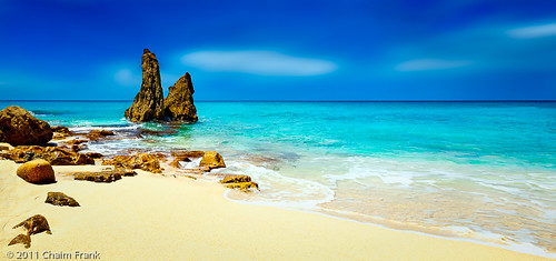 seascape beach landscape sintmaarten cupecoy