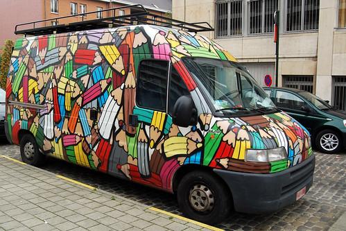 La camionnette aux 174 crayons