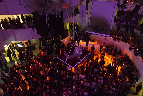 pope, concertgoers @ guggenheim