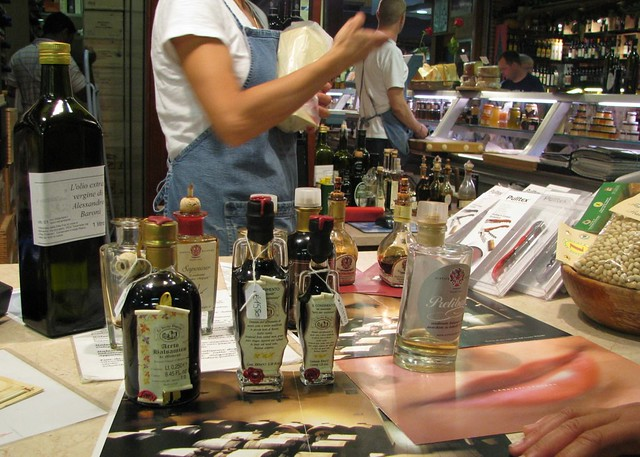 Tasting vinegars in Florence