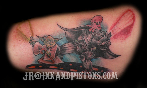 Darth Zoidberg vs Yoda Tattoo