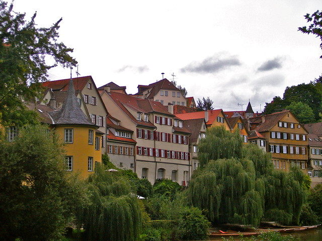 Tuebingen as seen along the Neckar River