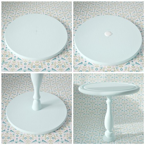 Making a cake stand - Glueing