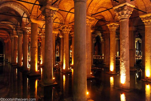 Columns in the (overbuilt) Basilica Cistern