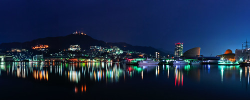 japan night landscape pentax 日本 nagasaki k7 長崎 長崎県 nagasakiprefecture 長崎出島ワーフ landplaza nagasakidejimawharf 大地の広場
