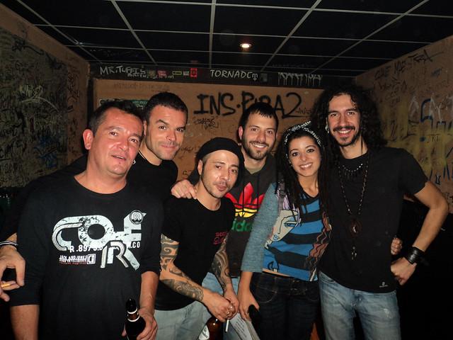 Backstage con Poncho K (Sala el Tren, Granada)