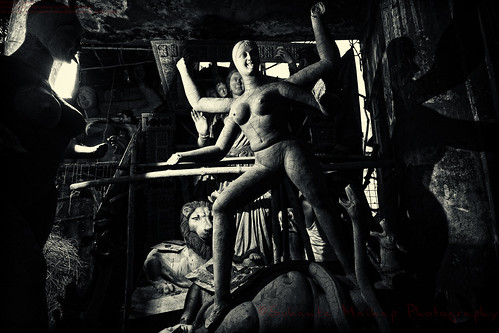 Unfinished Goddess Kali Idol [ BW Version ] by Sukanta Maikap Photography
