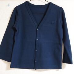 紺色のカーディガン ベルメゾン子供服