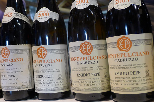 Emidio Pepe Montepulciano Abruzzo that since the 60ties is made only in concrete vats.