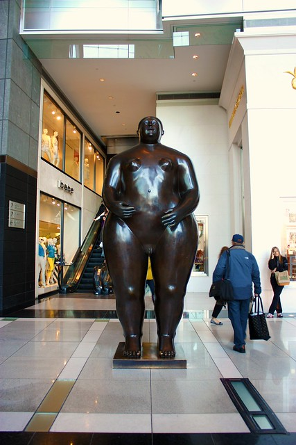 Naked Woman Statue at Time Warner Center New York