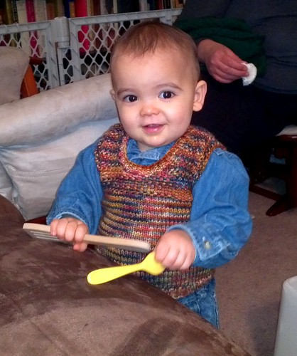 Little Guy in Chris Woven Yoke Sweater