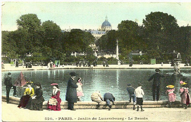 1907 paris model yacht lake jarden du luxembourg france for Jarden france