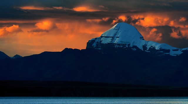 Mount Kailash, as the night falls.