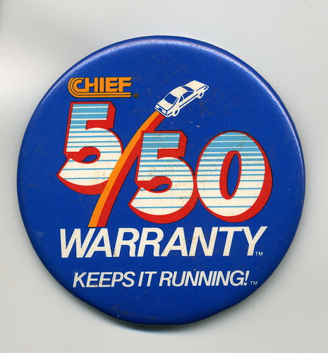 Chief Auto Parts - 5/50 warranty