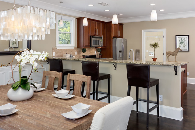 Estoria st kitchen dining combo flickr photo sharing for Dining room kitchen combination