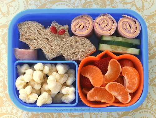batter up lunch: toddler bento box